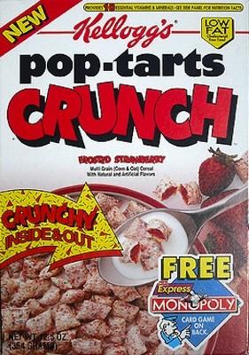 Discontinued Cereals - Pop Tarts Crunch Cereal